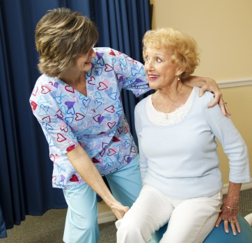 http://www.dreamstime.com/royalty-free-stock-photos-senior-lady-physical-therapist-image14389088