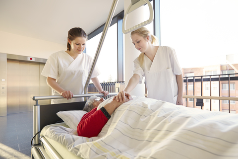 http://www.dreamstime.com/royalty-free-stock-photography-patient-hospital-bed-sisters-nurses-image38926107