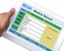 http://www.dreamstime.com/royalty-free-stock-photography-patient-medical-record-browse-tablet-someone-hand-white-background-image39574197