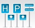 http://www.dreamstime.com/stock-photo-hospital-road-sign-illustration-background-image31636600