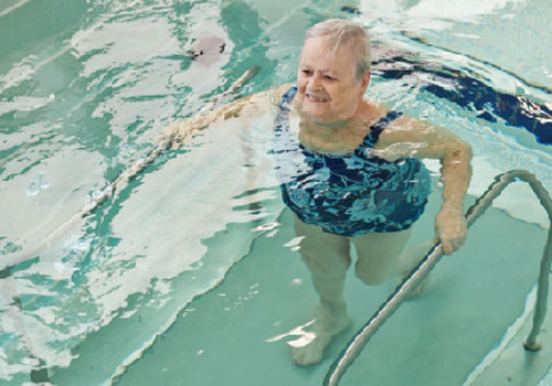 An underwater treadmill can help provide cardiovascular fitness regardless of an individual's age with activities such as water jogging.