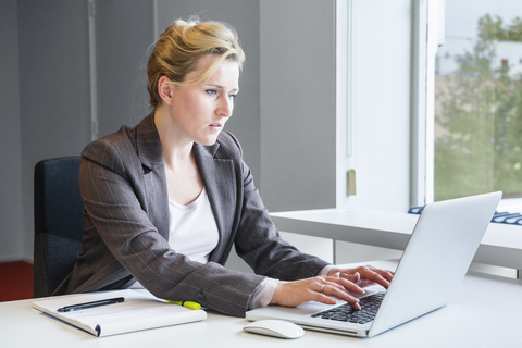 http://www.dreamstime.com/stock-images-executive-business-woman-notebook-attractive-working-her-sitting-behind-her-desk-next-to-window-typing-her-notes-image37037424